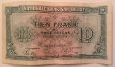 Belgium Banknote. 10 Francs. Dated 1943