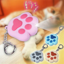 LED light Cat Paw With Sound Lovely Torch Keyring Keychain Gift Fashion Cute HF