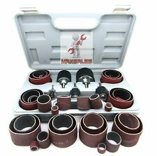 NEW 45pc Sanding Round Drum Set For WoodWorking Drill Press Sander Sleeves Tool