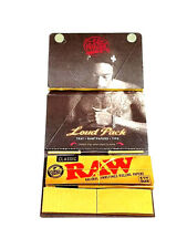 Wiz Khalifa Raw Classic Rolling Papers 1 1/4 Tray Paper Tips 32 - 3 Packs Loud