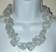 Sobral Metallique Diamantes Silver Statement Necklace Direct From Brazil
