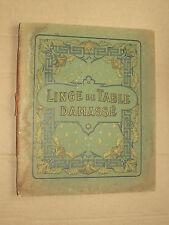 Catalogue Linge de Table Damassé WALLAERT Lille  Broderie  vers 1900  brochure