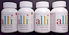 LOT OF 4 ALLI ORLISTAT WEIGHT LOSS AID 480 CAPS TOTAL EXP DATE 10/18 NEW BOTTLES