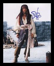 JOHNNY DEPP - PIRATES AUTOGRAPHED SIGNED & FRAMED PP POSTER PHOTO