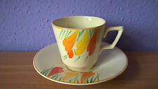 Crown Ducal Art Deco c. 1935-1938 China Cabinet cup and saucer Crocus design