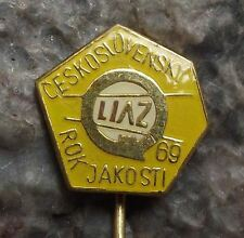 1969 LIAZ Year of Quality Czech Truck & Bus Company Logo Advertising Pin Badge