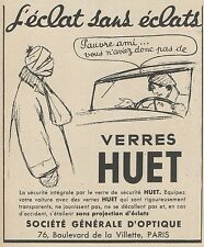 Z9325 Verres HUET -  Pubblicità d'epoca - 1936 Old advertising