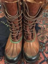 Ralph Lauren Men's Rayburn Vachetta Boot w/Green Trim Size 10.5/11