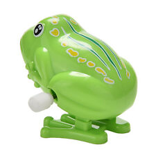 Best Wind up Frog Plastic Jumping Animal Classic Educational Clockwork Toys EP