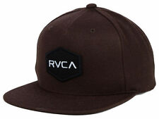 RVCA Hex Frames Adjustable Snap Back Cap/Hat Brown