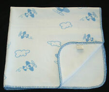 Elegant Baby White Blue Airplanes Clouds Baby Blanket Air Planes Blanket Stitch