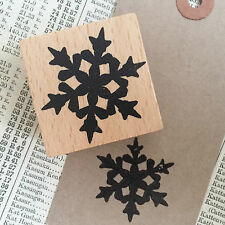 Christmas Snowflake Wooden Printing Stamp - Xmas Craft Tags Wrapping Cards