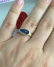 """Anna Beck ring """"Gili"""" Sapphire 18K Gold Plated Silver 925 Size- 5 NEW$250"""