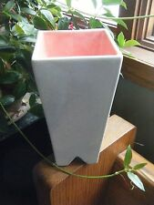 Grey / Pink Red Wing Art Pottery Bud Vase marked USA  Unique Mid Century Mod