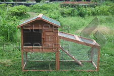 Rabbit Hutch Chicken Coop Guinea Pig Ferret Cage Hen Chook House Run High