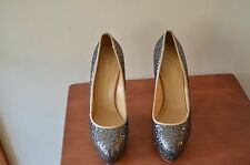 Charlotte Olympia Silver Sequins High Heel Pumps