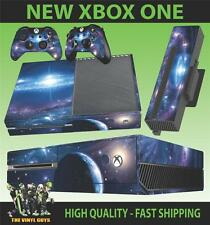 XBOX ONE CONSOLE STICKER SPACE STARS GALAXY UNIVERSE PLANETS SKIN & 2 PAD SKINS