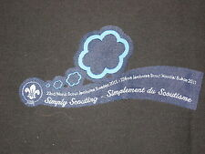 2011 World Jamboree Ribbon with Clouds Design Patch           c18