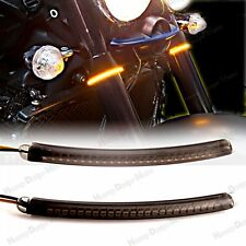 LED 52mm-58mm Fork Turn Signal Light Smoked Lens For Hammer&Kingpin&Motorcycle
