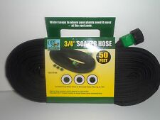 (USA SELLER) 1 Garden SOAKER Water HOSE 50 FT Heavy Duty FLAT 60 Day Warranty