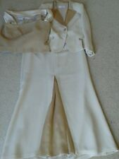PRESEN DE LUXE New IVORY&.GOLD 3 PIECE SKIRT WEDDING OUTFIT SIZE 14New no tags