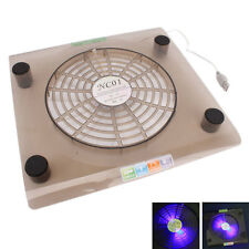 """New USB NC01 Cooling Fan LED Cooler Pad for Laptop 14.1""""-15.4"""" Translucent Tawny"""