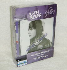 Justin Bieber Never Say The Remixes [Ultimate Fan Pack] Taiwan Ltd CD +T-Shirt