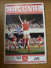 29/08/1981 Arsenal v Stoke City  (Folded)