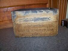 Antique Charles Scribners & Sons Adams March of Democracy Advertising Wood Crate