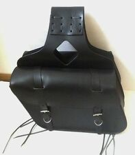 "New genuine black cowhide leather motorcycle saddle bags 15""x 10""x 5""made USA"