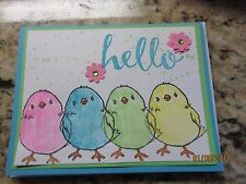 Stampin' Up Handmade Greeting Card Easter Peeps hello