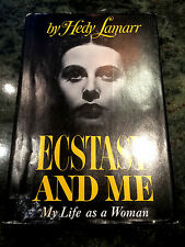 Ecstasy And Me, by Hedy Lamarr -1966-Signed, 1st Ed.,4th Prtg. Vintage H/C Book