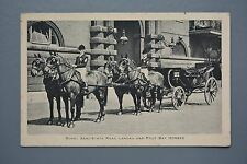 R&L Postcard: Royal Coach & Horses, Semi State Road Landau & Four Bay Horses