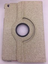 Oro brillo funda para iPad Mini 1 2 3 360 Base Giratoria Cubierta Brillante Bling