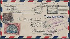 #571, #C11 ON 1ST FLIGHT ZEPPELIN COVER USA TO GERMANY BS191