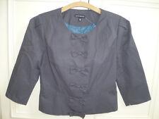 NEW short grey JAMES LAKELAND designer jacket with bows size UK 10 - RRP £125