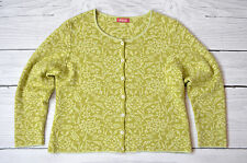 Oleana Norway Cardigan Espeland Sweater Floral Wool Silk Size S