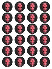 "x24 1.5""  Horror Film Face Mask Cupcake Topper Decoration on Edible Rice Paper"