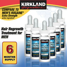 6 MONTHS KIRKLAND DROPS GENERIC MINOXIDIL 5% MENS HAIR LOSS REGROWTH TREATMENT