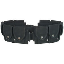 GI style 10 Pocket Canvas Cartridge Batman Halloween Costume Utility Belt- BLACK