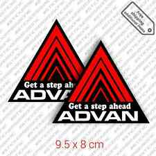2x ADVAN - Get a step ahead sticker decal vinyl set Civic Integra DC2 EK9 JDM