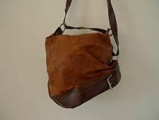 Vintage marron souple cuir italien sac à main seau
