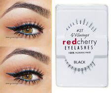 NIB~ Red Cherry #27 False Eyelashes Fake BOTTOM UNDER Lashes Black Strip