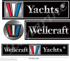 Wellcraft Boat Remastered Decal Set for Restoration Project
