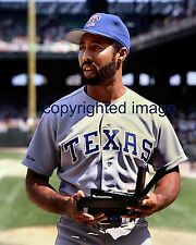Harold Baines Comiskey Park Rangers #3 retired 1989 Color  8x10 L
