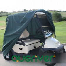Premium Waterproof Golf Cart Cover UV Dust Protector Club Car Cover Green
