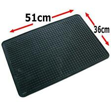 Single Rubber Car Floor Mat Universal 51 x 36 cm Footwell Car Van Truck 4x4 Home