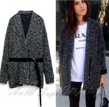 ZARA KNIT WOOL JACKET SHORT COAT CARDIGAN SIZE S  8 UK / 36 EU / 4 US