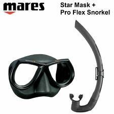 Mares Star Mask + Pro Flex Snorkel Set 421402 411460 Dive Gear Scuba Diving
