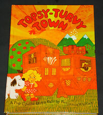 VHTF Topsy-Turvy Town Hallmark Pop-up 3D Book Benjamin Whitley Upside Down Tale